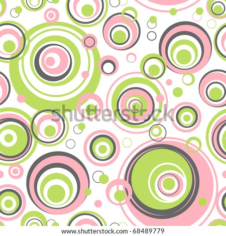 Circles seamless pattern - vector background for continuous replicate. - stock vector