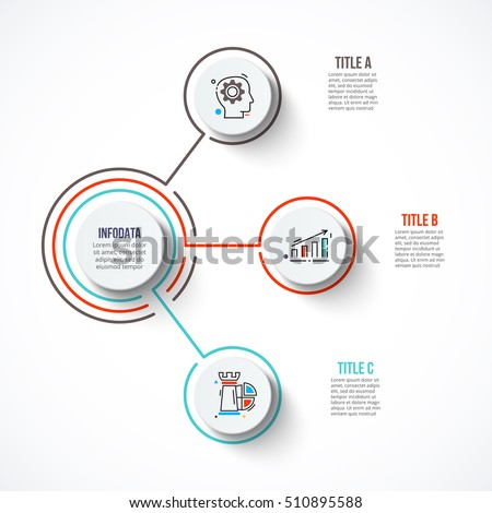 Circles strokes infographic template diagram graph em vetor stock circles with strokes for infographic template for diagram graph presentation and chart ccuart Images