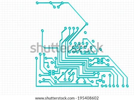 circuit background  - stock vector