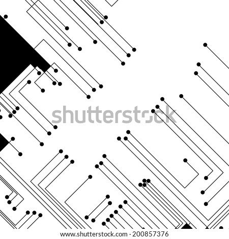 Circuit board background, modern digital Illustration. - stock vector