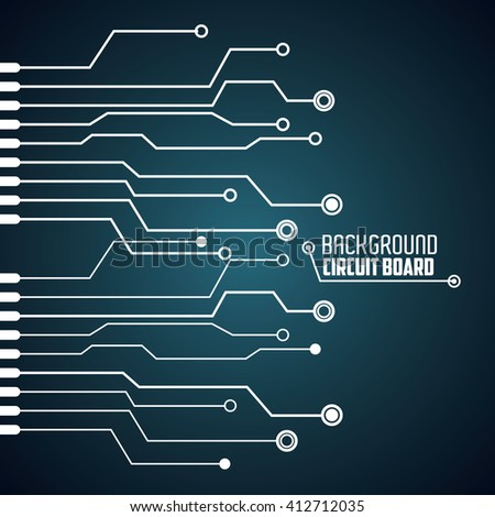 Circuit Board Design Technology Electronic Concept Stock Photo ...
