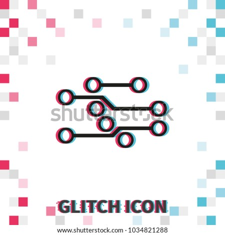 circuit board glitch effect vector icon stock vector 1034821288 rh shutterstock com vector abstract background with circuit board texture vector abstract background with circuit board texture