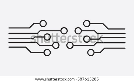 circuit board icon technology scheme symbol stock vector