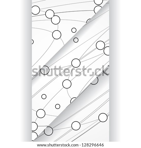 Circuit board illustration. - stock vector