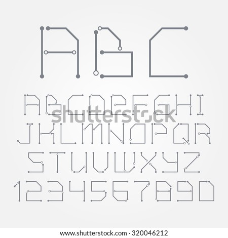 circuit board form letters numbers vector stock photo photo vector rh shutterstock com Simple Circuit Diagrams schematic diagram letters