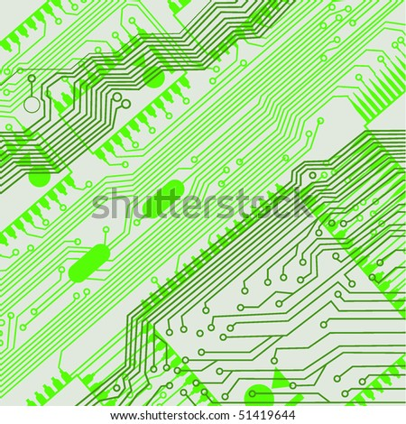circuit board pattern - stock vector