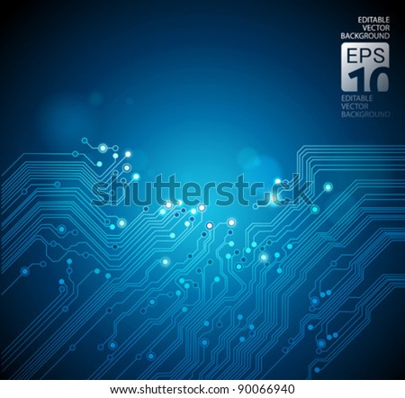 circuit board technology background - stock vector