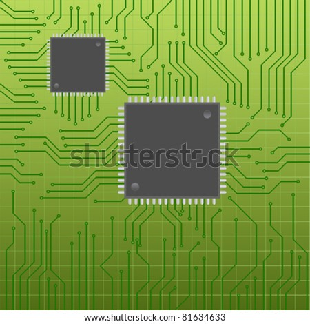 Circuit or mother board with chips