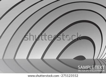 Circular abstract vector metal  background illustration. Metal vector silver abstract design  template - stock vector