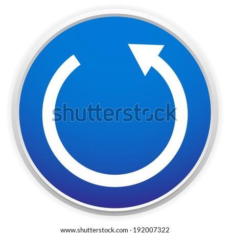 Circular arrow sign - stock vector