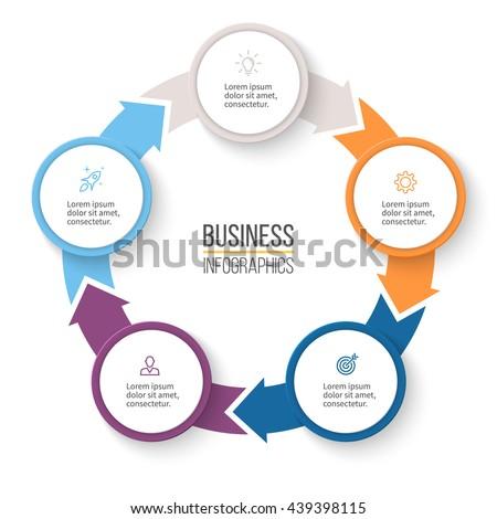 Circular arrows infographics chart graph diagram stock vector circular arrows for infographics chart graph diagram with 5 steps options ccuart Gallery