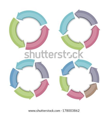Circular arrows, vector eps10 illustration - stock vector