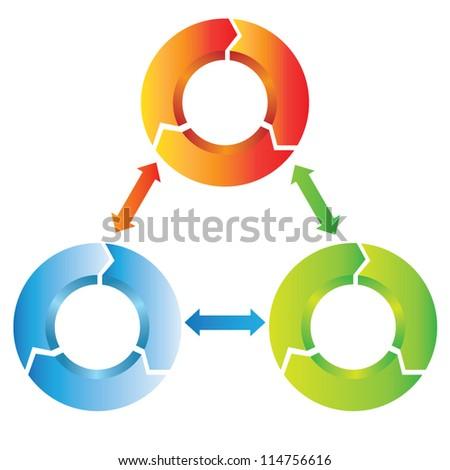 circular diagram, mind mapping - stock vector