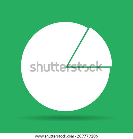 circular diagram web icon. Flat vector illustrator  - stock vector