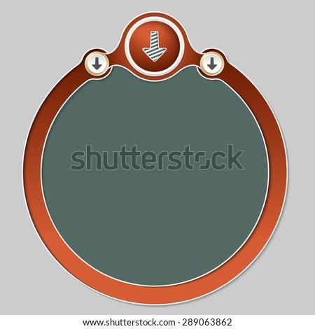 Circular frame for your text and arrow - stock vector