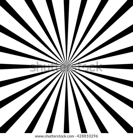 circular light scattered behind. Radial background. Black and white - stock vector