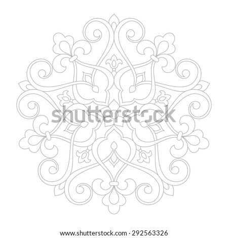 Circular pattern. Mandala. Round vintage vector ornament in Arabesque style. - stock vector