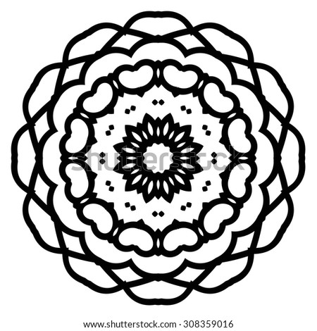 Circular pattern. Round vector ornament.