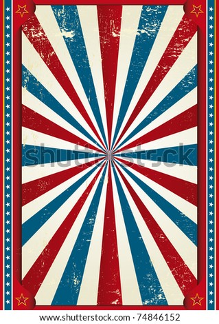Circus A circus grained background for a poster - stock vector