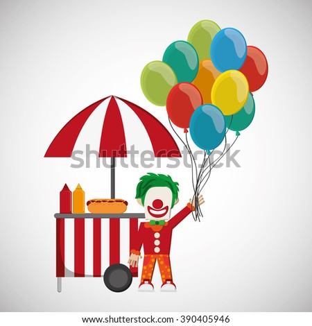 Circus and carnival design - stock vector