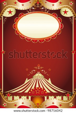 circus baroque. A baroque circus background with a big top. - stock vector