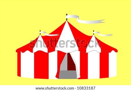 Circus Big Top Tent Vector Illustration - stock vector