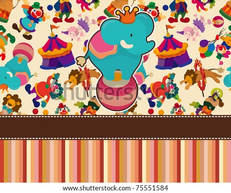 circus card - stock vector
