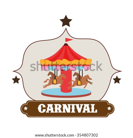 Circus carnival entertainment graphic design, vector illustration