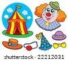 Circus clown collection - vector illustration. - stock vector