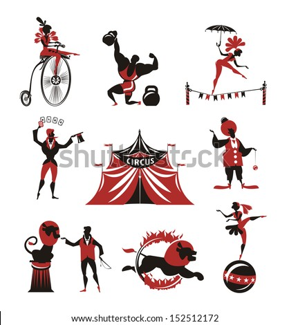 Circus. Collection of icons - stock vector