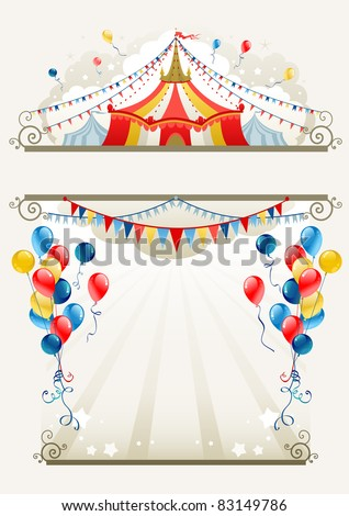 Circus frame with space for text - stock vector