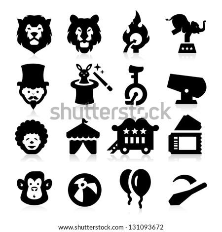 Circus Icons - stock vector