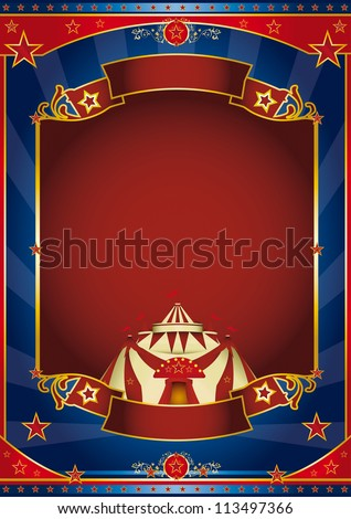 Circus magic red frame. a circus poster for your advertising. - stock vector