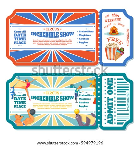 Circus Ticket Images RoyaltyFree Images Vectors – Show Ticket Template