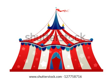 Circus marquee tent isolated - stock vector