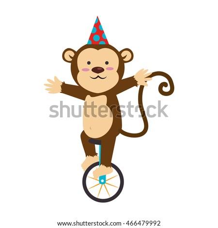 Circus monkey cartoon