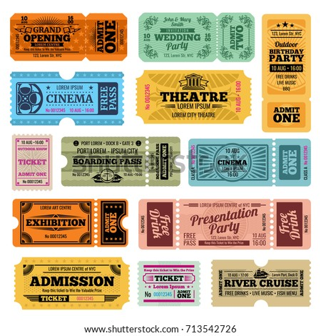 Tickets Images RoyaltyFree Images Vectors – Theatre Ticket Template