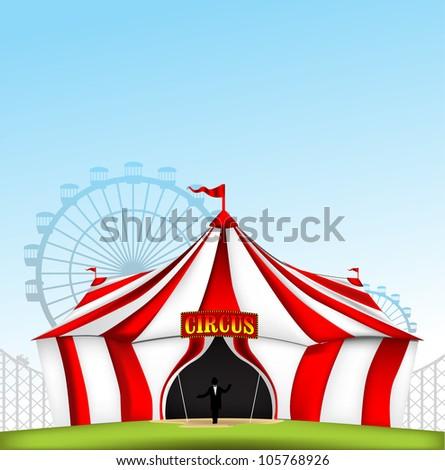 Circus tent - stock vector
