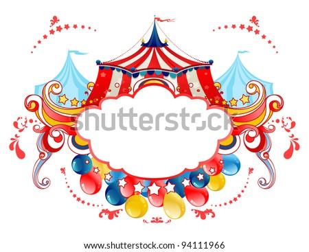 Circus tent frame - stock vector