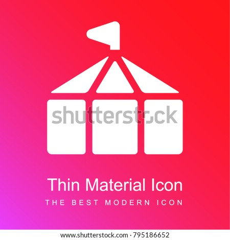 Circus Tent red and pink gradient material white icon minimal design  sc 1 st  Shutterstock & Circus Tent Red Pink Gradient Material Stock Vector 795186652 ...