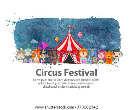 circus. vector illustration - stock vector
