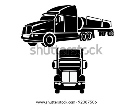 Cistern truck illustration