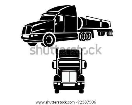 Cistern truck illustration - stock vector