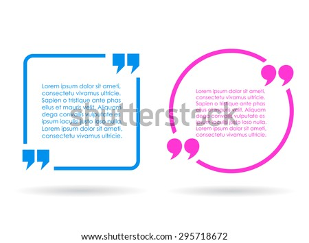 Citation text box - stock vector