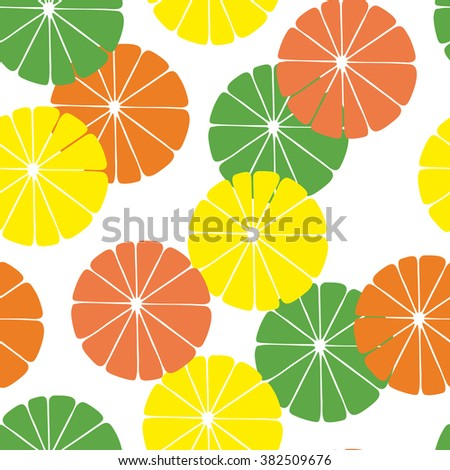 Citrus colorful seamless pattern.