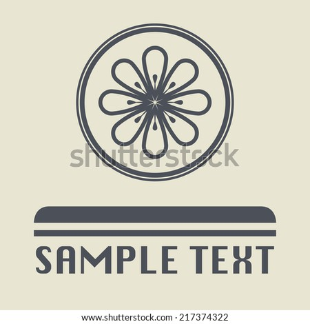 Citrus fruit icon or sign, vector illustration - stock vector