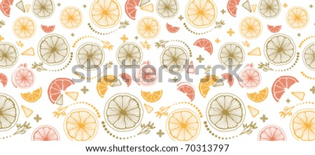 citrus in the chaotic set - stock vector