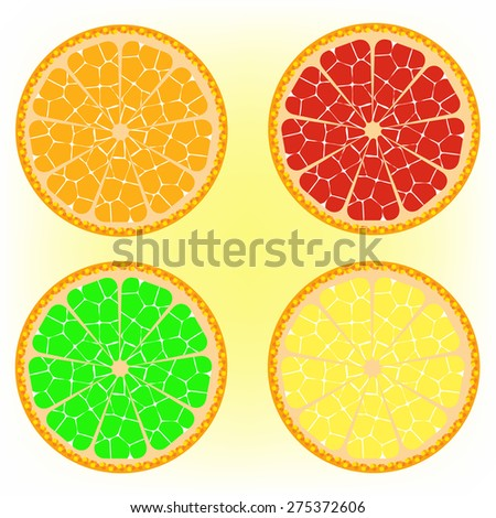 Citrus, oranges, lemons, limes, grapefruits