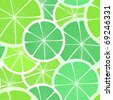 Citrus seamless background. Lime - stock vector