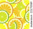 citrus seamless vector pattern - stock vector